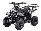 110cc Four Wheelers 6'' Tires Atvs, Spider Black