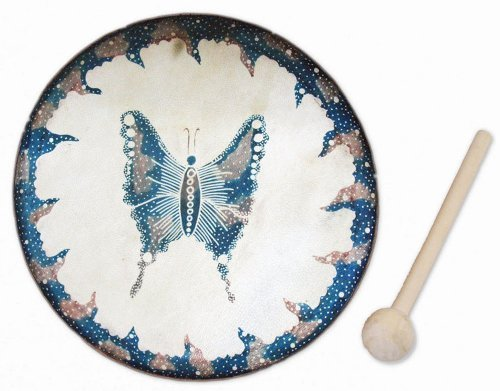 Fair Trade Butterfly Frame Drum -