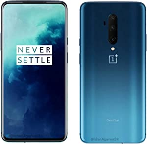 OnePlus 7T PRO HD1910 256GB, 8GB, Dual Sim, 6.67 inch, 48MP Main Lens, Triple Lens Camera, GSM Unlocked International Model, No Warranty (Haze Blue)