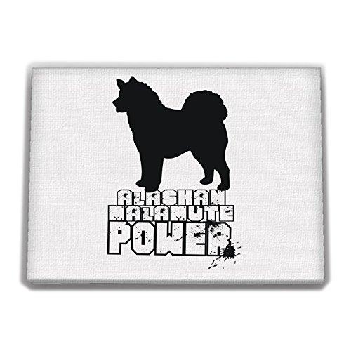 [Idakoos - Alaskan Malamute POWER - Dogs - Canvas Wall] (Alaskan Malamute Power Dog)