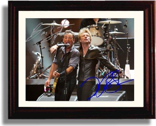 Framed Bruce Springsteen Jon Bon Jovi Autograph Replica Print -