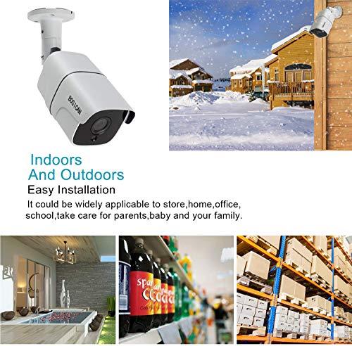 BOSICAN 1080P 1920TVL Bullet Security Camera, 2.0 Megapixel Hybrid HD 4-in-1 TVI/CVI/AHD/CVBS Waterproof Outdoor Surveillance Camera (WHITE-1080P 4 in 1 Bullet camera-622)