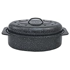 Granite Ware roasters brown better and cook more evenly than any other roaster. The dark exterior absorbs all the oven's energy, the steel core evenly distributes the heat and the glass interior doesn't alter the taste.