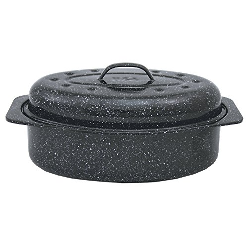 Granite Ware Covered Oval Roaster (Large Graniteware)