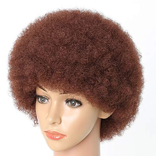 PhoenixFlame Hair Wigs for Black Woman Synthetic Afro Short Kinky Hair Curly Heat Resistant Fiber Wig - Lightweight Breathable Fluffy Wig 6.5