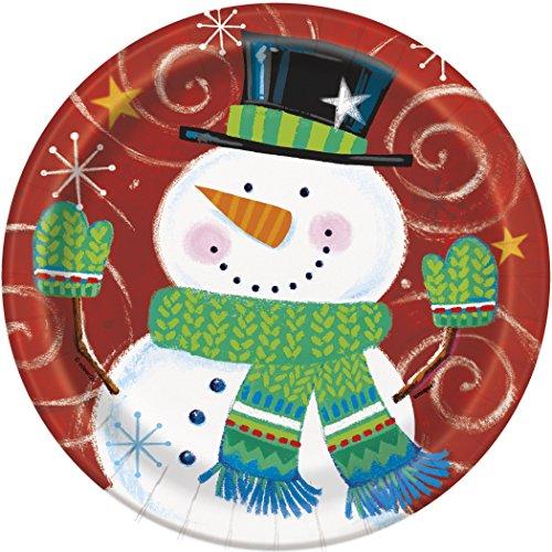Snowman Swirl Holiday Dessert Plates, 8ct