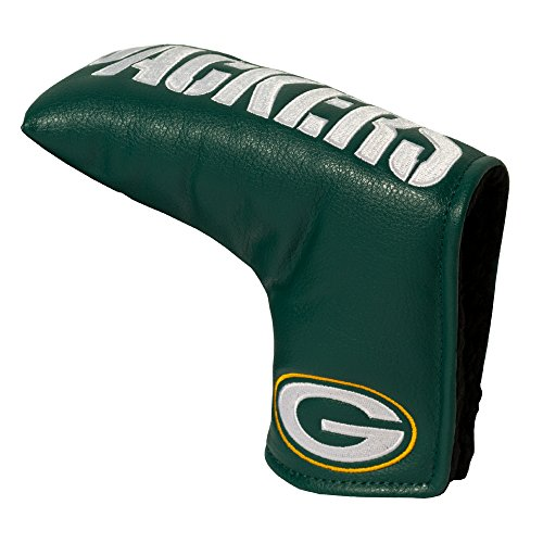 Team Golf NFL Green Bay Packers Golf Club Vintage Blade Putter Headcover, Form Fitting Design, Fits Scotty Cameron, Taylormade, Odyssey, Titleist, Ping, Callaway