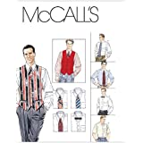 McCall's Patterns M2447 Men's Lined Vest, Shirt, Tie In Two Lengths and Bow Tie, Size Y (SM-MED-LRG)