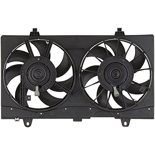(Hex Autoparts Dual Condenser Radiator Cooling Fan for Nissan Sentra 2007-2012)