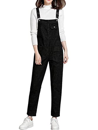 2091faf1f44 Gooket Women s Regular Fit Denim Dungarees Casual Long Denim Bib Overalls  Jumpsuit Playsuit Jeans Pant Trousers