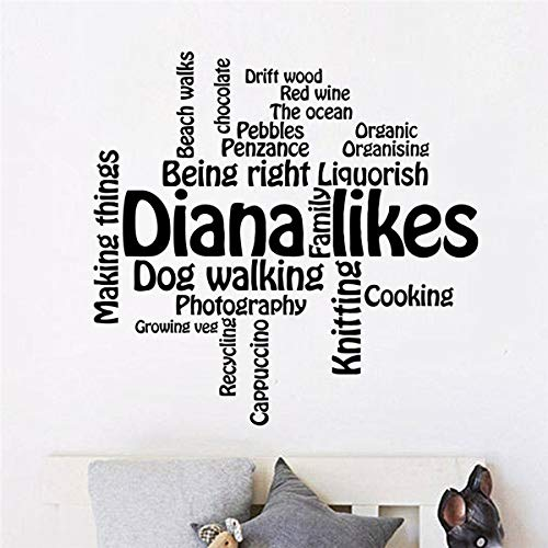 Wall Stickers Diana Likes Cooking Dog Walking for Bedroom Living Room]()