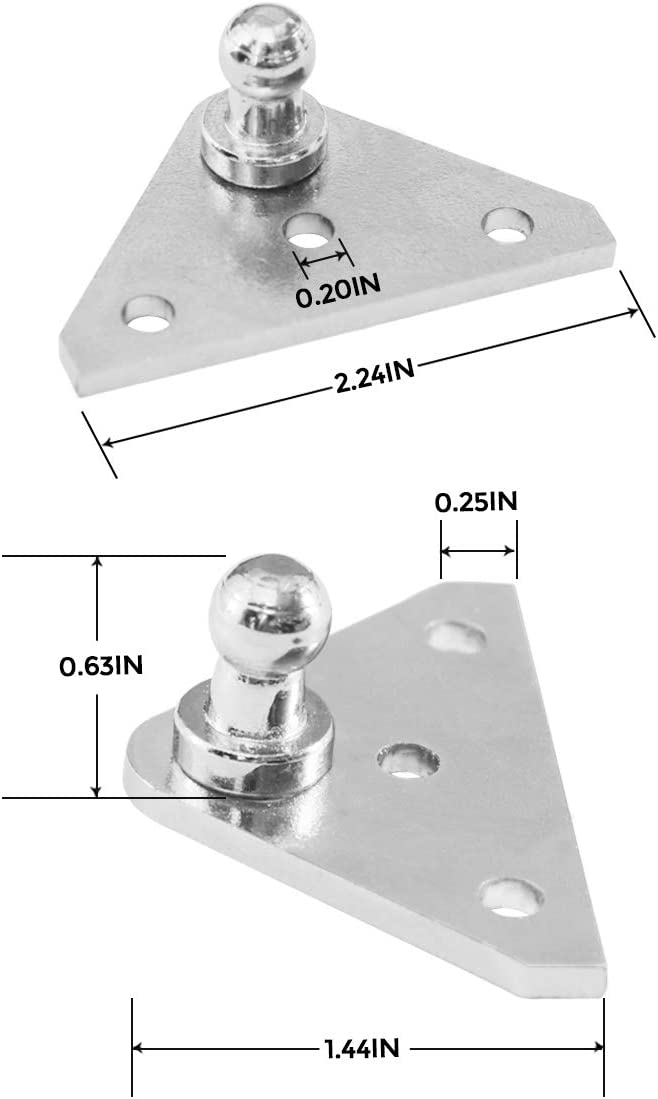 include 12pcs screws Mounting-Bracket Lift Support Shock with 12pcs 4 PACK 10MM Ball-Studs Strut Prop