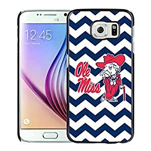 New Unique Custom Designed Case With Southeastern Conference SEC Football Ole Miss Rebels 02 Black For Samsung Galaxy S7 Phone Case