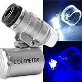 fitTek Microscopio (lupa de 60 aumentos, luz LED y UV)