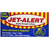 Jet Alert Double Strength Alertness Aid Caplets, 200mg-90 ct