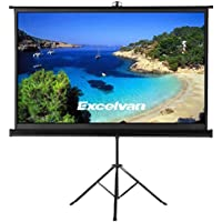 Projector Screen with Foldable Stand Tripod, Excelvan Portable 100 Diagonal HD 16:9 Pull Up Movie Screen for Home Theater Cinema Wedding Party Office Presentation