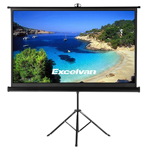 Tripod Portable Projection Screen (Projector Screen with Foldable Stand Tripod, Excelvan Portable 100