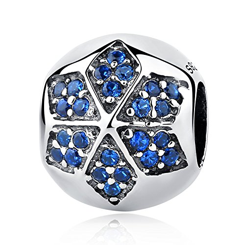 - XingYue Jewelry Sterling Silver Starry Sky Moon and Star Bead Charm,I Love You to the Moon and Back Charm for Bracelets (Lucky Star Bead Charm)