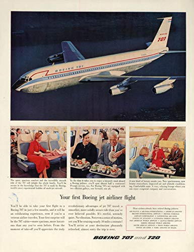 Your first Boeing 707 Jet Airliner Flight ad 1958 H