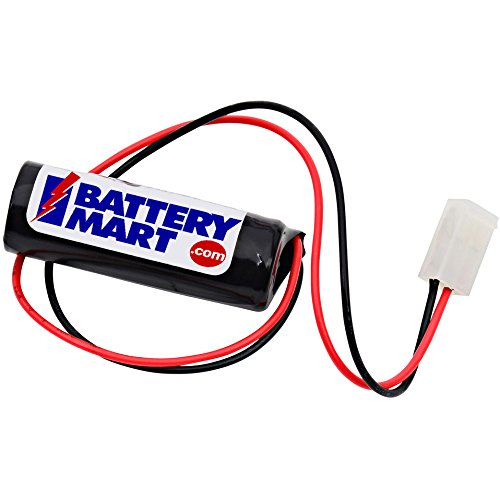 BatteryMart 1.2 Volt 1500 mAh NiCd Battery with Connector Replacement T&B 012745 Emergency Lighting Battery