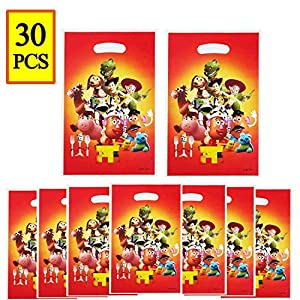 30 PCS Toy Game Story Cute Party Gift Bags, Toy Game Story Candies Bags Party Supplies for Kids Cute Toy Themed Party, Birthday Party Favors Toy Game Story Goodie Bags for Girls or Boys