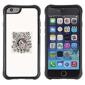 Paccase / Suave TPU GEL Caso Carcasa de Protección Funda para - House Home Song Minimalist White Poster - Apple Iphone 6