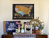 Scratch Off Map of The United States – Deluxe