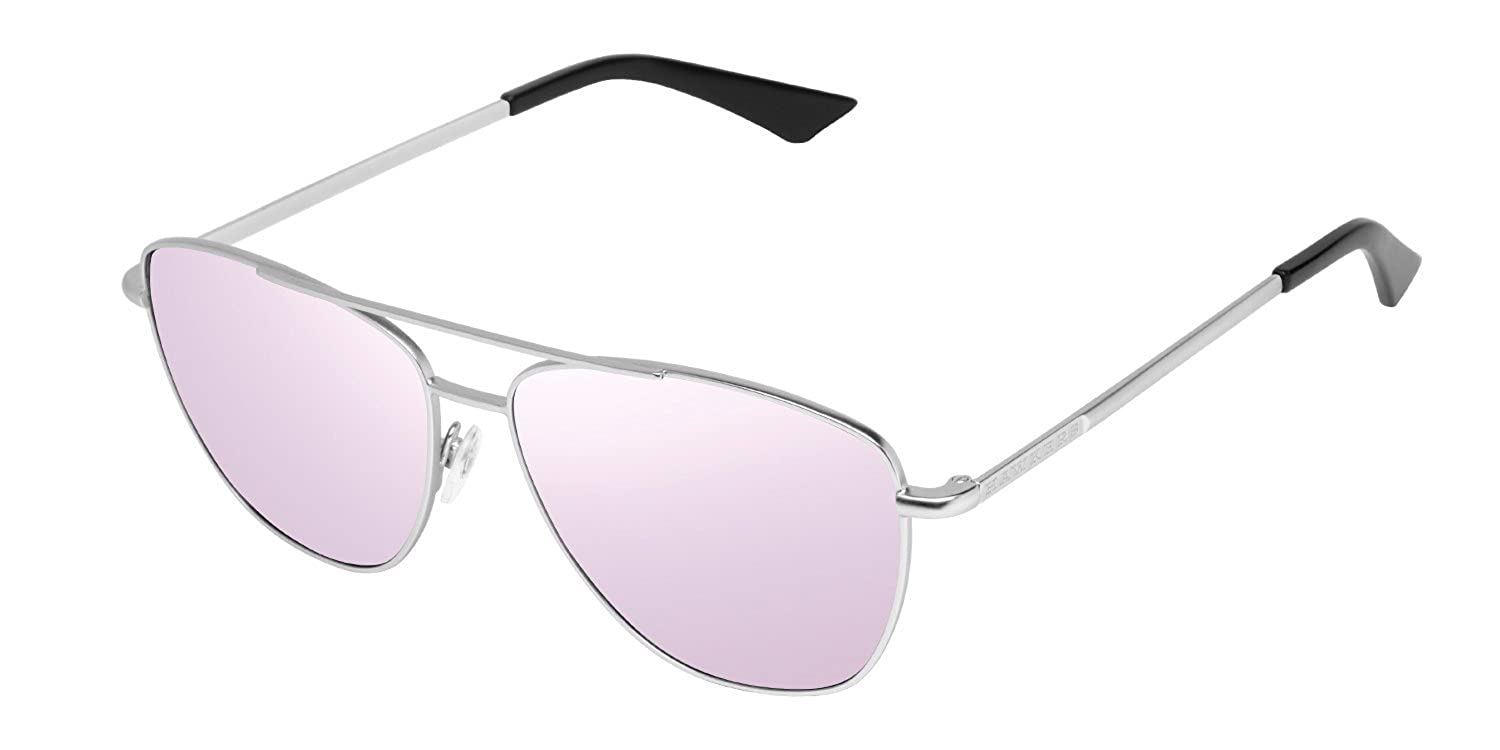Hawkers Unisex Adults' A06 Sunglasses, Silver (Metálico/Morado), 60