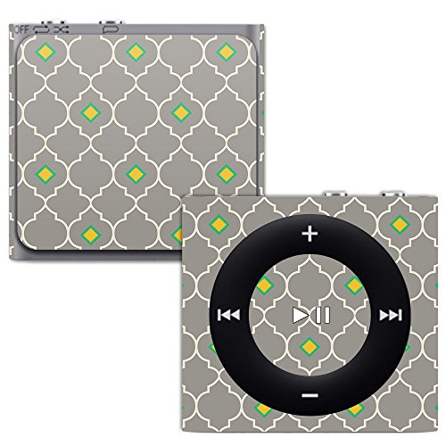 (MightySkins Skin for Apple iPod Shuffle 4G - Quatrefoil   Protective, Durable, and Unique Vinyl Decal wrap Cover   Easy to Apply, Remove, and Change Styles   Made in The USA)