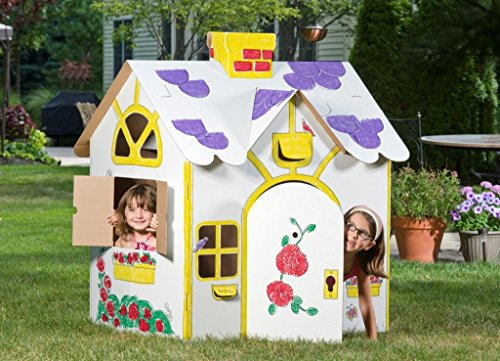 (Box Creations Corrugated Play House - Markers Included)