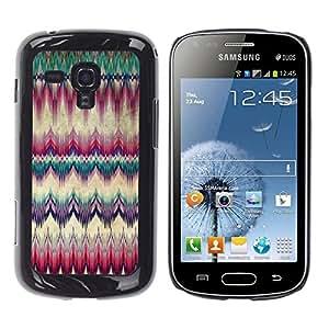 YiPhone /// Prima de resorte delgada de la cubierta del caso de Shell Armor - Carpet Feather Native American Culture - Samsung Galaxy S Duos S7562