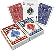 Bicycle Playing Cards - Poker Size - 2 Pack, RED &