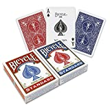 Bicycle Playing Cards - Poker Size - 2 Pack, RED & BLUE: more info