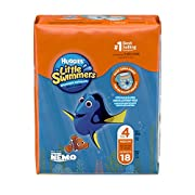 Huggies Little Swimmers Disposable Swimpants, Swim Diaper, Size Medium, 18 Ct. (Pack of 4)