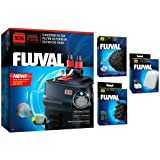 Fluval 306 A212 Canister Filter w/Bio-Foam, Carbon & Polishing Pads