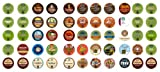 Crazy Cups Caffinated Coffee Only Gift Sampler, Single-Cup Coffee Pack Sampler for Keurig K-Cup Brewers, 55-Count