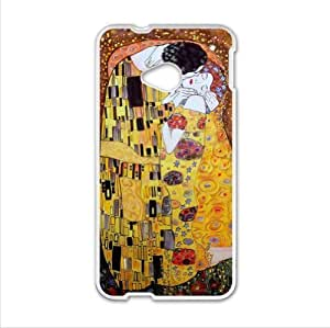 Best Custom Case - Customized The Kiss by Gustav Klimt HTC One M7 (Laser Technology) Case, Cell Phone Cover by supermalls