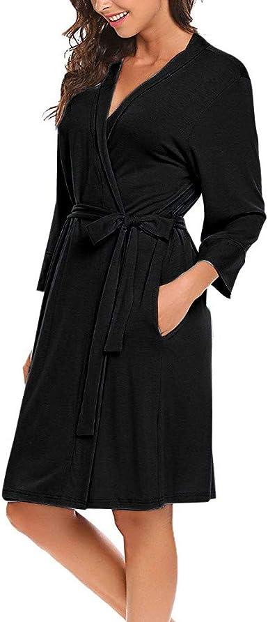 99AMZ Pijama Mujer Camisón Encaje Batas Kimono Algodón Túnica Ropa ...