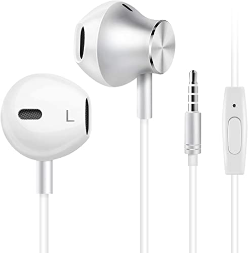 Wired Headphones, Amoner Earbuds Waterproof Sports Headphones, Stereo Sound Headsets Earbuds with Microphone for Phone 6 6s Plus 5s SE, Galaxy, Android Smartphones, Tablets