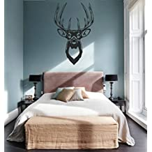 ik760 Wall Decal Sticker deer elk buck head forest animal hunting living room