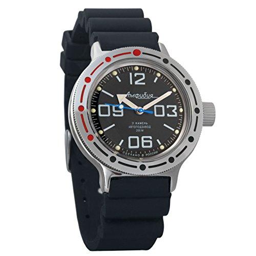 Resin Case Dive Watch (Vostok Amphibian Automatic Mens WristWatch Self-winding Military Diver Amphibia Case Wrist Watch #420819 (resin))