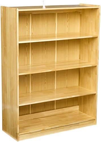 AmazonBasics Wooden Bookshelf, 3 Adjustable Shelves
