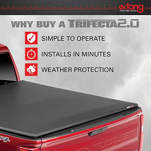 "Extang Trifecta Toolbox 2.0 Soft Folding Truck BedTonneau Cover | 93450 | Fits 2014-18, 2019 Legacy Chevy/GMC 1500, 2014-18, 2500/3500HD - 2015-18, 2019 Silverado 1500 Lgcy/Ltd 6'6"" Bed"
