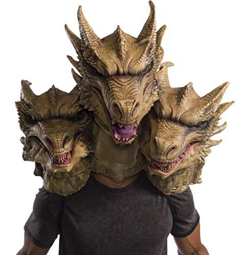 Three Headed Monster Costumes - Rubie's Unisex Godzilla Adult Deluxe Ghidorah