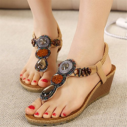 Women Sandals Xwz415 Vintage Women Robert Beach Woman Flip Rhinestone Flops Black Summer Shoes Westbrook qAA7IEwv