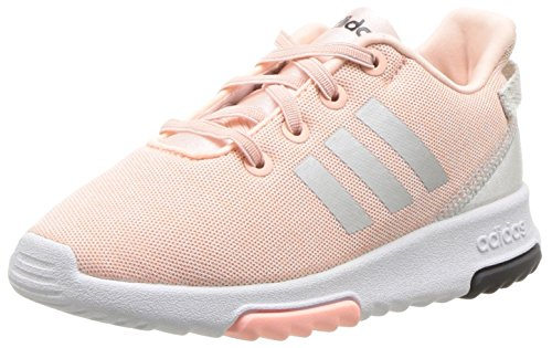 adidas Kids CF Racer TR Running Shoe, Haze Coral/Metallic Silver/White, 9K M US - Footwear Silver Metallic Toddler