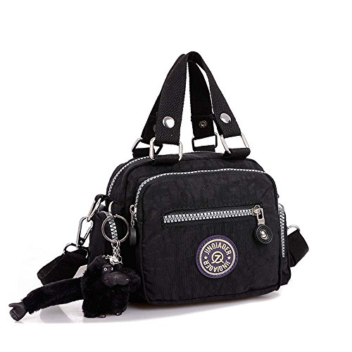 Messenger Waterproof Classic Handbag Diagonal Amison Shoulder Bag Nylon Black nf0Bw15xq