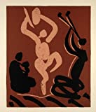 1962 Linocut Nude Dancer Flute Player Mother