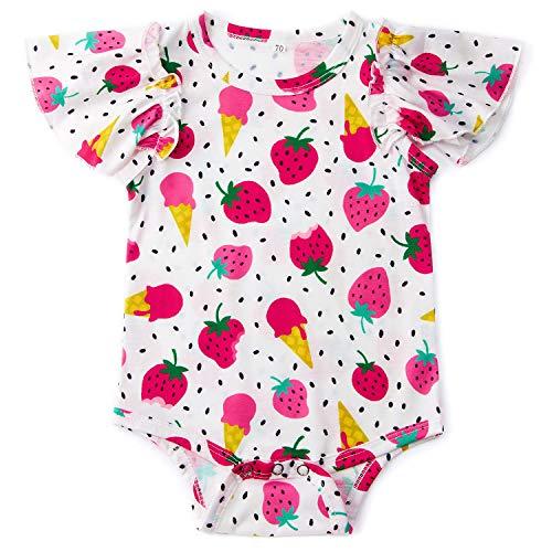 One Playsuit (Goodstoworld Baby Ruffle Girl Romper Infant Toddler Funny Jumpsuit Playsuit Sleepwear Bodysuit)