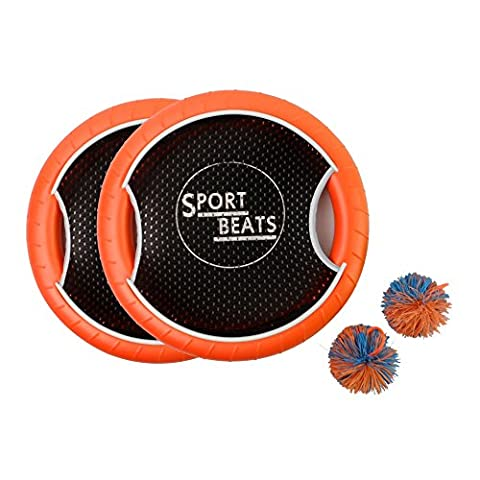 SPORT BEATS Outdoor Bouce-Back Trampoline Paddle Ball Game Set For 2 Player 1 Balls included - Tpx Pitcher Glove